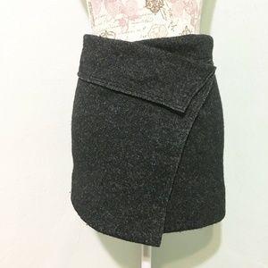 ISABEL MARANT ÉTOILE Blac Wool Blend Mini Skirt 36
